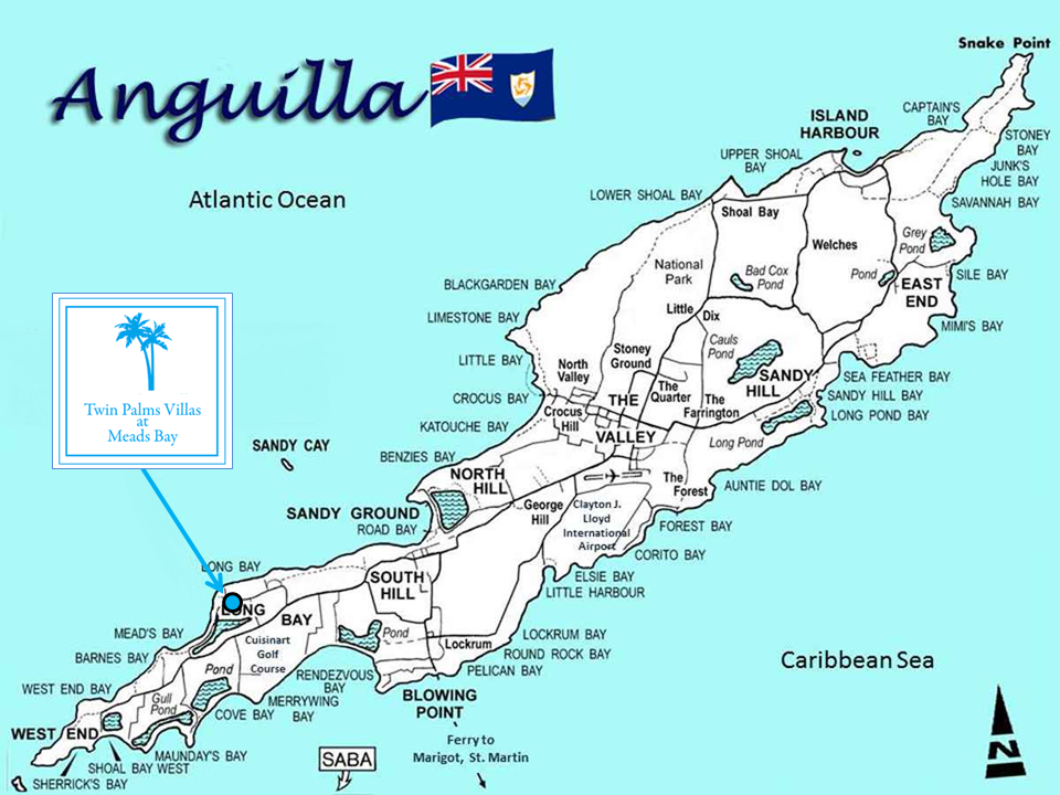 Anguilla Travel Tips-Anguilla Departure Taxes-Anguilla Location and Maps