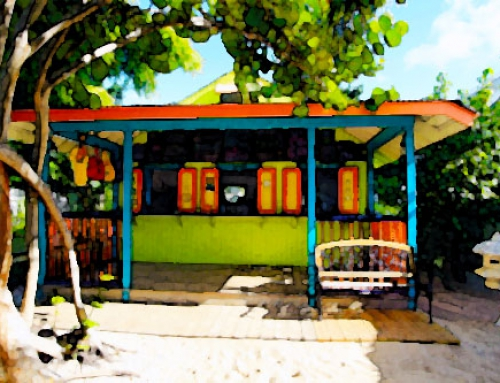 Beach Bar Watercolor Anguilla – Photo Credit: Tess Martin