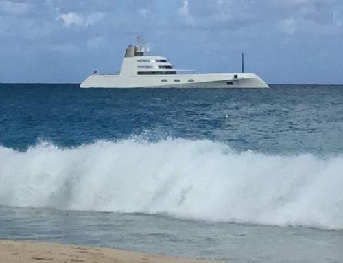 Melnichenko Yacht on Mead's Bay – Photo Credit: Ted Riegel