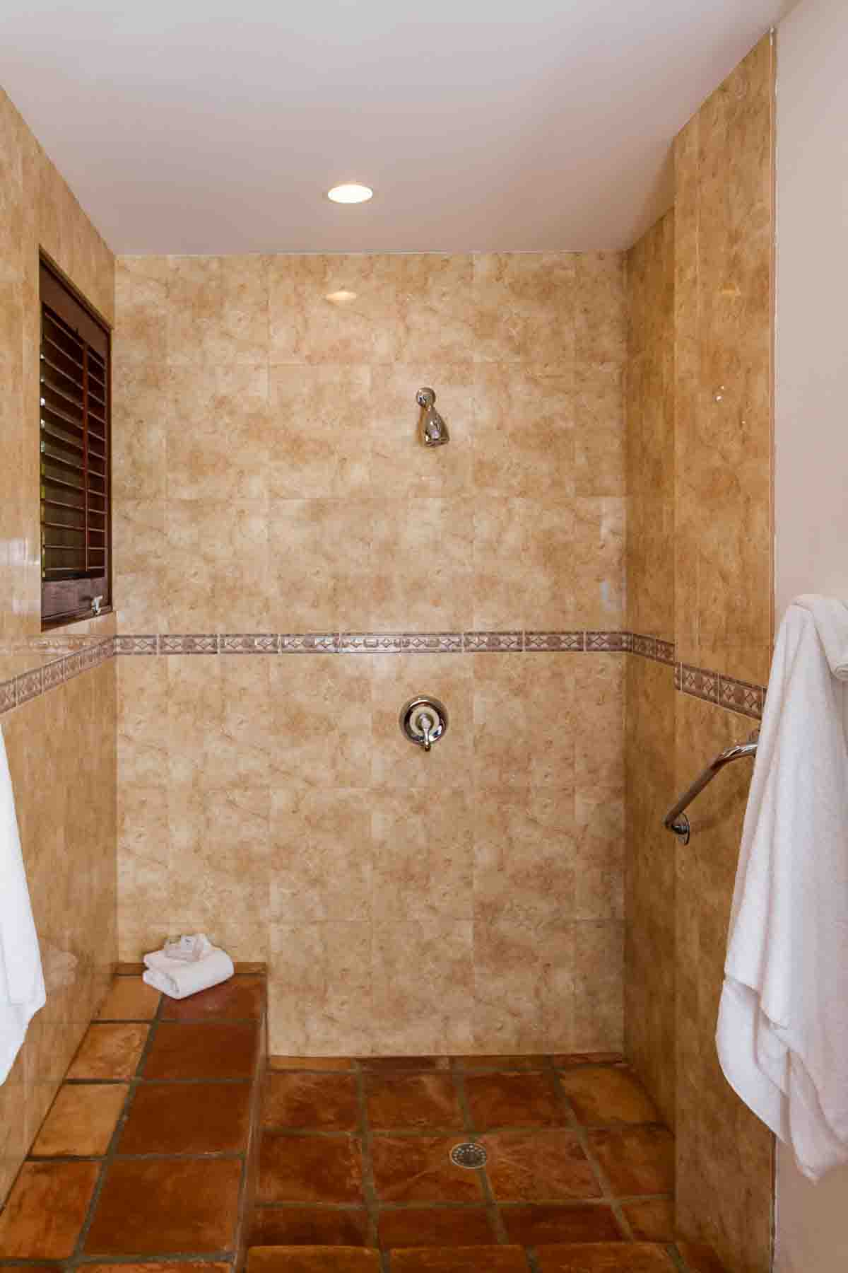 Coconut Palm Guest Bathroom Shower