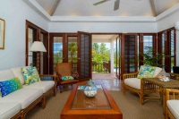 Coconut Palm Living Room French Doors