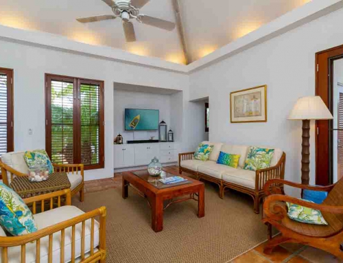 Coconut Palm Villa Living Room TV View