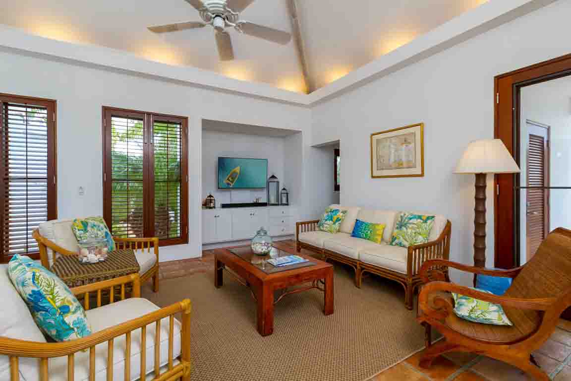 Coconut Palm Living Room with TV View