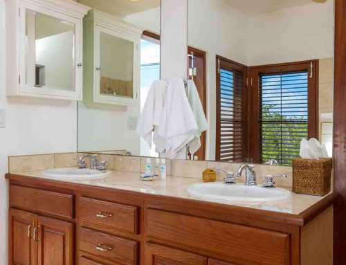 Coconut Palm Villa Poolside Master Bathroom Vanity