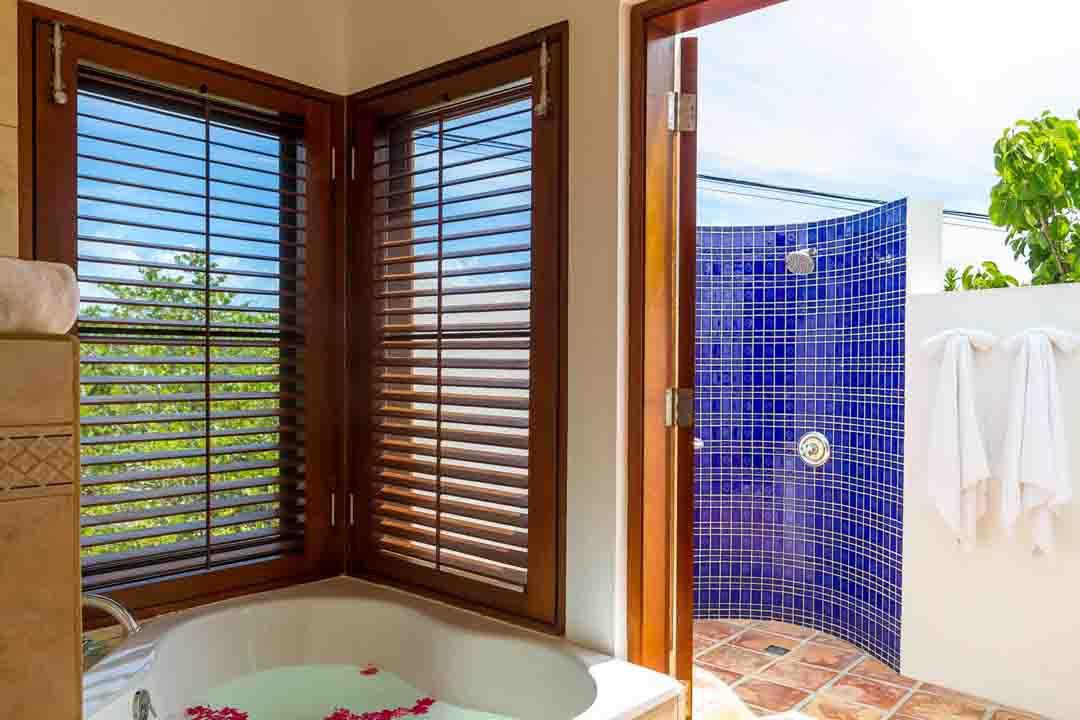 Coconut Palm Poolside Master Bathroom