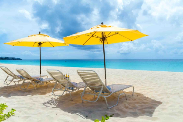 Twin Palms Villas Beach Chairs on Meads Bay 1